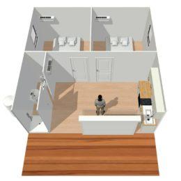 vue3D-2 chambres